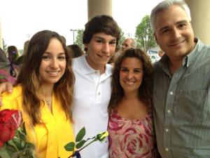 Tina Adamopoulos, co-founder of Tag Em Tournaments with her family.