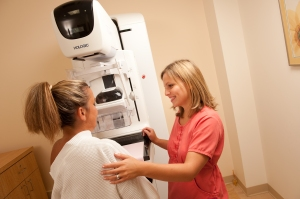 mammogram in progress