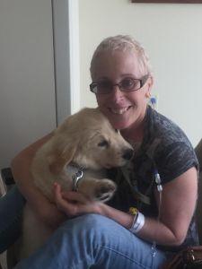 Rita with dog